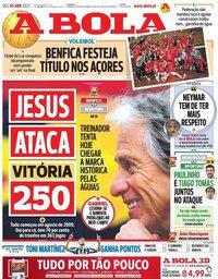 capa Jornal A Bola de 5 abril 2021