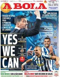 capa Jornal A Bola de 7 abril 2021