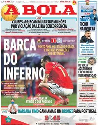 capa Jornal A Bola de 18 abril 2021