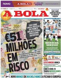 capa Jornal A Bola de 19 abril 2021