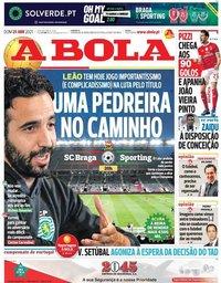 capa Jornal A Bola de 25 abril 2021