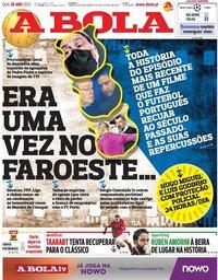 capa Jornal A Bola de 28 abril 2021