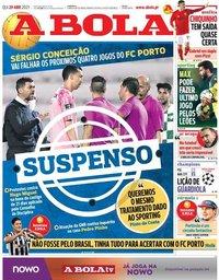 capa Jornal A Bola de 29 abril 2021