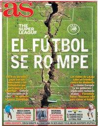 capa Jornal As de 20 abril 2021