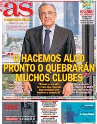 capa Jornal As de 24 abril 2021