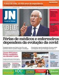 capa Jornal de Notícias de 1 abril 2021
