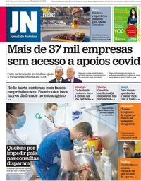 capa Jornal de Notícias de 2 abril 2021