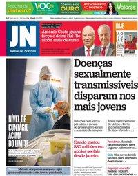 capa Jornal de Notícias de 3 abril 2021