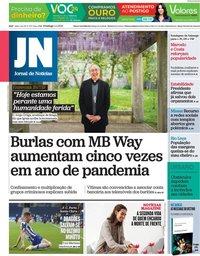 capa Jornal de Notícias de 4 abril 2021