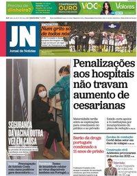 capa Jornal de Notícias de 7 abril 2021