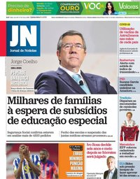 capa Jornal de Notícias de 8 abril 2021