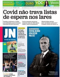 capa Jornal de Notícias de 9 abril 2021