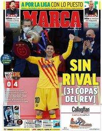 capa Jornal Marca de 18 abril 2021