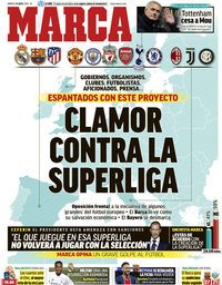capa Jornal Marca de 20 abril 2021