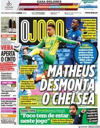 capa Jornal O Jogo de 5 abril 2021