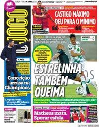 capa Jornal O Jogo de 6 abril 2021