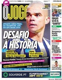 capa Jornal O Jogo de 7 abril 2021