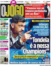 capa Jornal O Jogo de 10 abril 2021