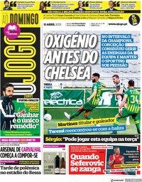capa Jornal O Jogo de 11 abril 2021