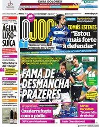 capa Jornal O Jogo de 12 abril 2021
