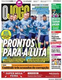 capa Jornal O Jogo de 13 abril 2021