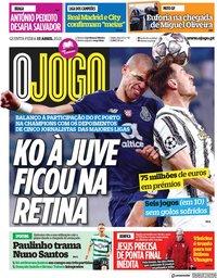 capa Jornal O Jogo de 15 abril 2021