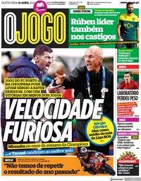 capa Jornal O Jogo de 16 abril 2021