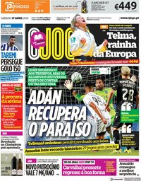capa Jornal O Jogo de 17 abril 2021