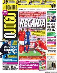 capa Jornal O Jogo de 18 abril 2021
