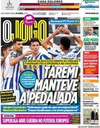 capa Jornal O Jogo de 19 abril 2021