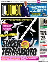 capa Jornal O Jogo de 20 abril 2021