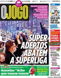 capa Jornal O Jogo de 21 abril 2021