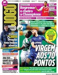 capa Jornal O Jogo de 22 abril 2021