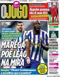 capa Jornal O Jogo de 23 abril 2021