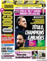capa Jornal O Jogo de 25 abril 2021