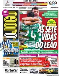 capa Jornal O Jogo de 26 abril 2021