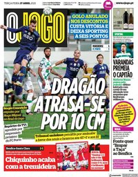 capa Jornal O Jogo de 27 abril 2021