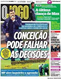 capa Jornal O Jogo de 28 abril 2021
