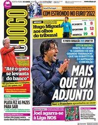 capa Jornal O Jogo de 30 abril 2021