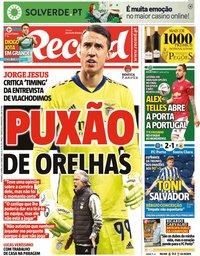 capa Jornal Record de 4 abril 2021
