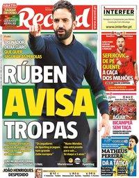 capa Jornal Record de 5 abril 2021