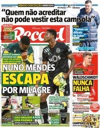 capa Jornal Record de 7 abril 2021