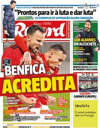 capa Jornal Record de 13 abril 2021
