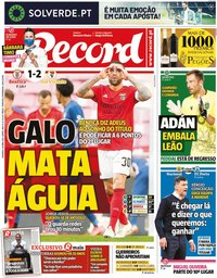 capa Jornal Record de 18 abril 2021