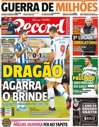 capa Jornal Record de 19 abril 2021