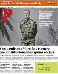 capa Público de 1 abril 2021
