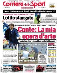 capa Corriere dello Sport de 1 maio 2021