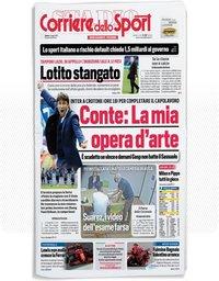 capa Corriere dello Sport de 2 maio 2021