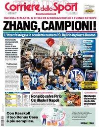 capa Corriere dello Sport de 3 maio 2021