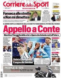 capa Corriere dello Sport de 4 maio 2021